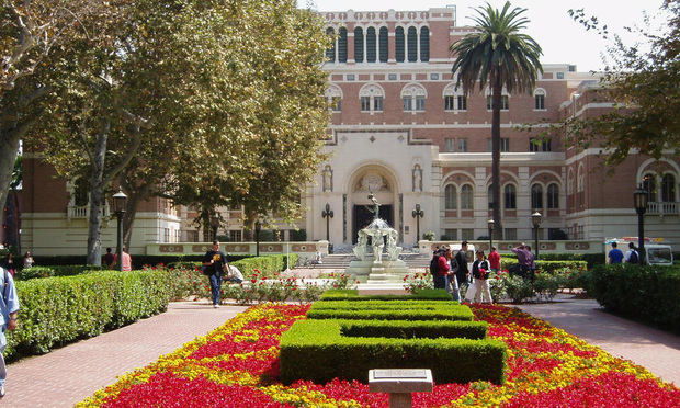 The main campus at the University of Southern California.