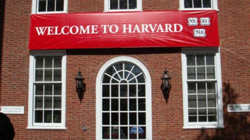 A welcome sign at Harvard University.