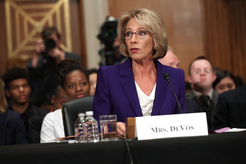 Betsy DeVos a in Senate Hearing