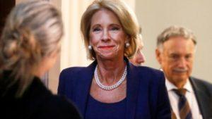 A headshot of U.S. Secretary of Education, Betsy DeVos.