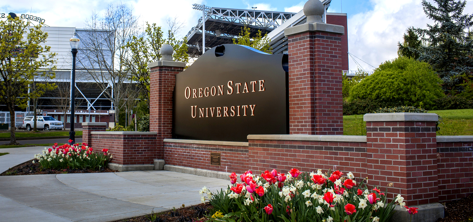 A sign on the Oregon State University campus.