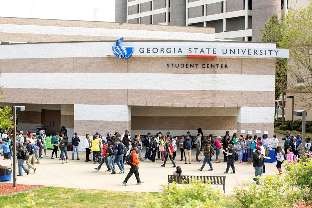 Students walking across campus at Georgia State University. For representational purpose only.