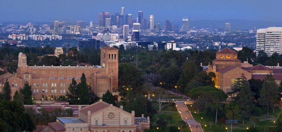 Aerial view of main campus University of California, Los Angeles.