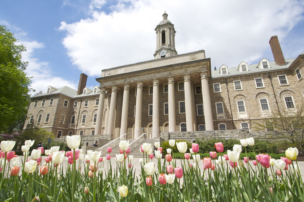 The main campus at Penn State University.