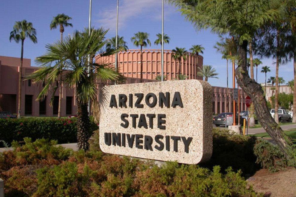 An Arizona State University Campus sign.