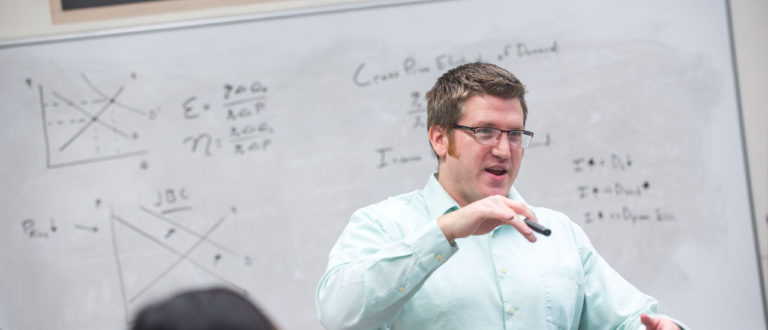 Kurt Rotthoff in classroom