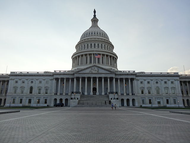 The east side of the U.S. Capitol during the government shutdown of 2013.