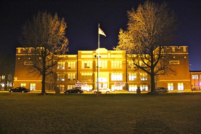 A building on Lindenwood University's campus.