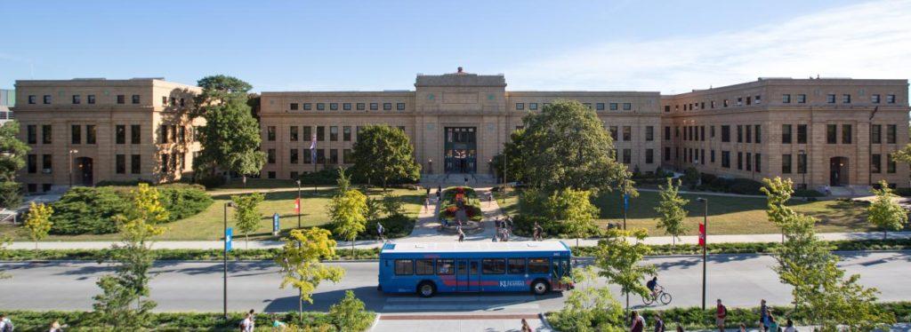 The University of Kansas campus.