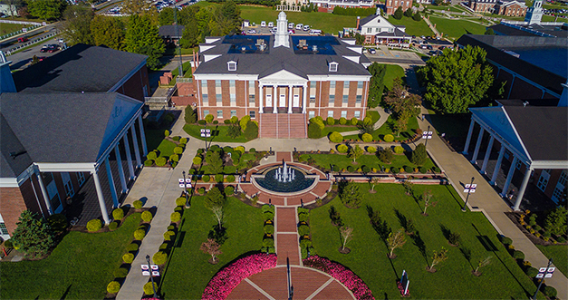 Aerial view of University of Cumberlands campus.