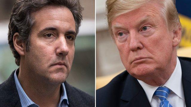 Michael Cohen and Donald Trump.