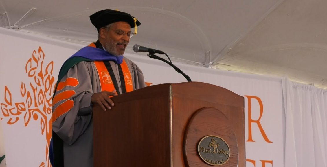 Pitzer College president Melvin L. Oliver.