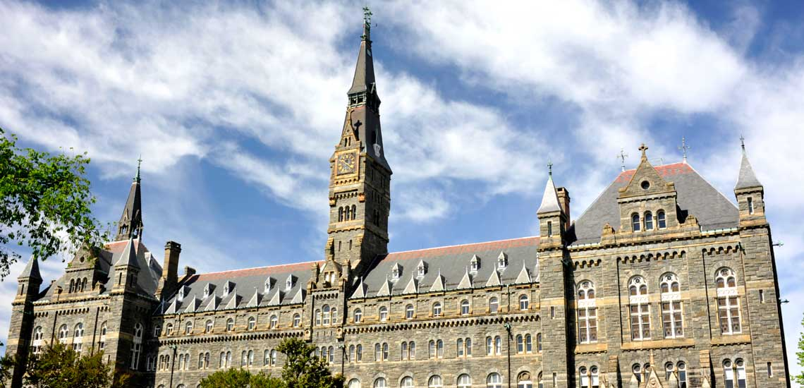 A building on the Georgetown University campus.