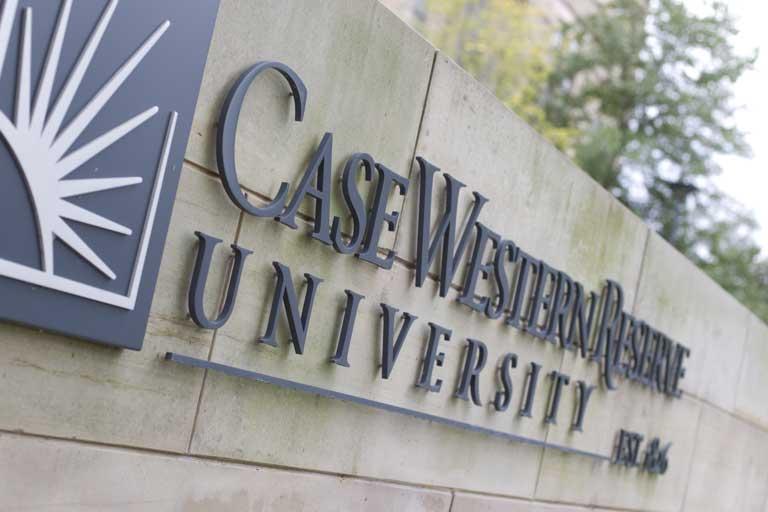 Photo of Case Western Reserve University Sign
