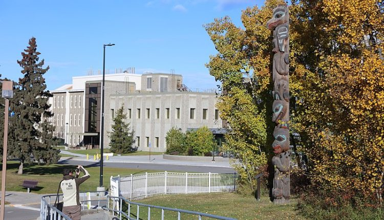 A building on the University of Alaska Fairbanks campus.