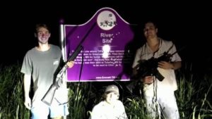 Students who posed with guns at Emmett Till memorial