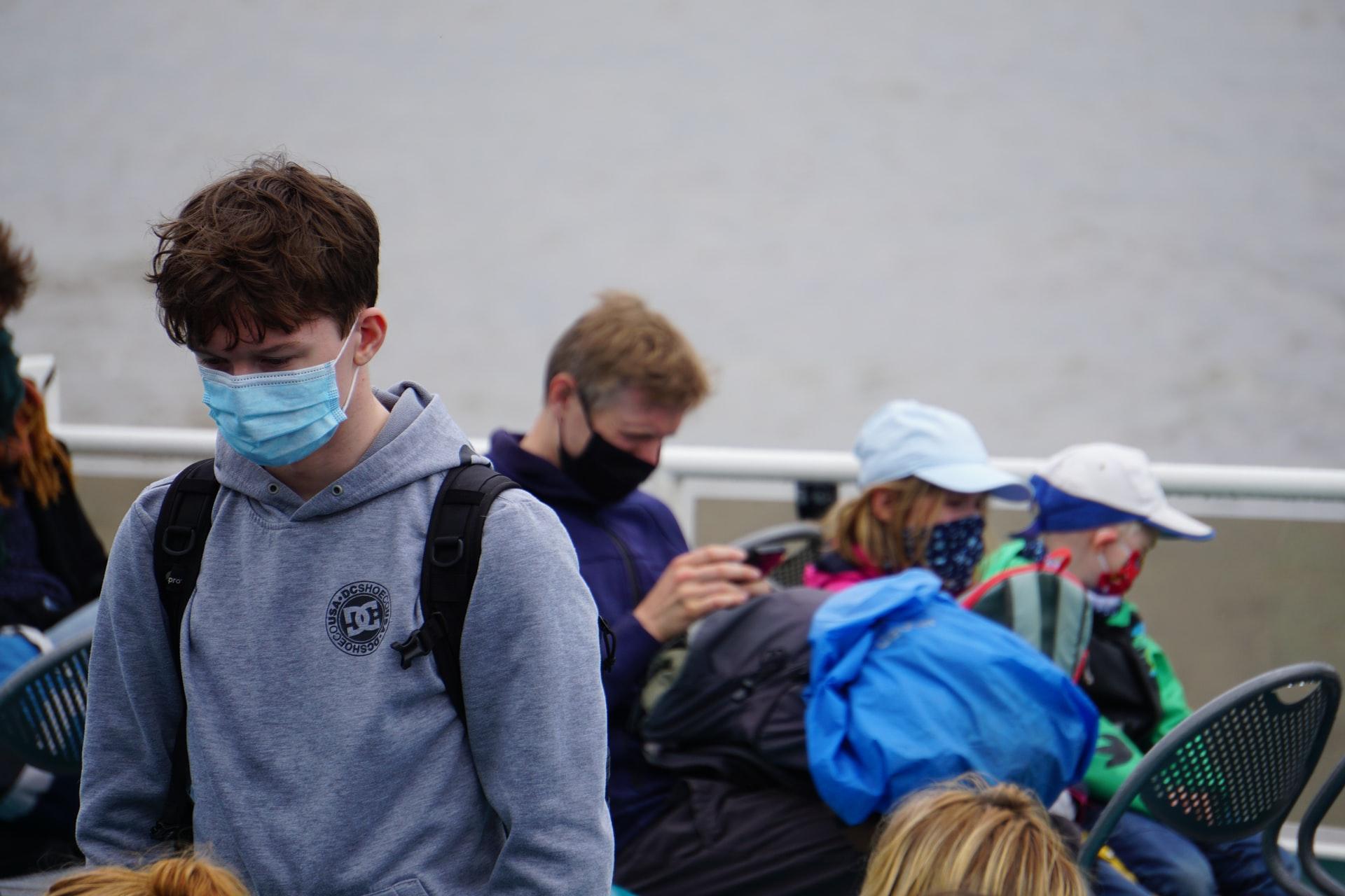 Photo of students wearing masks.