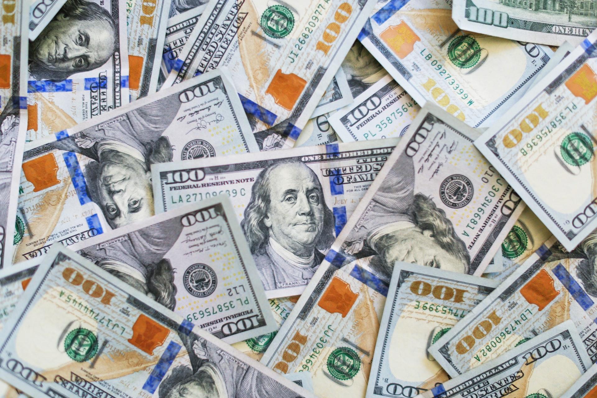 Photo of American dollars.