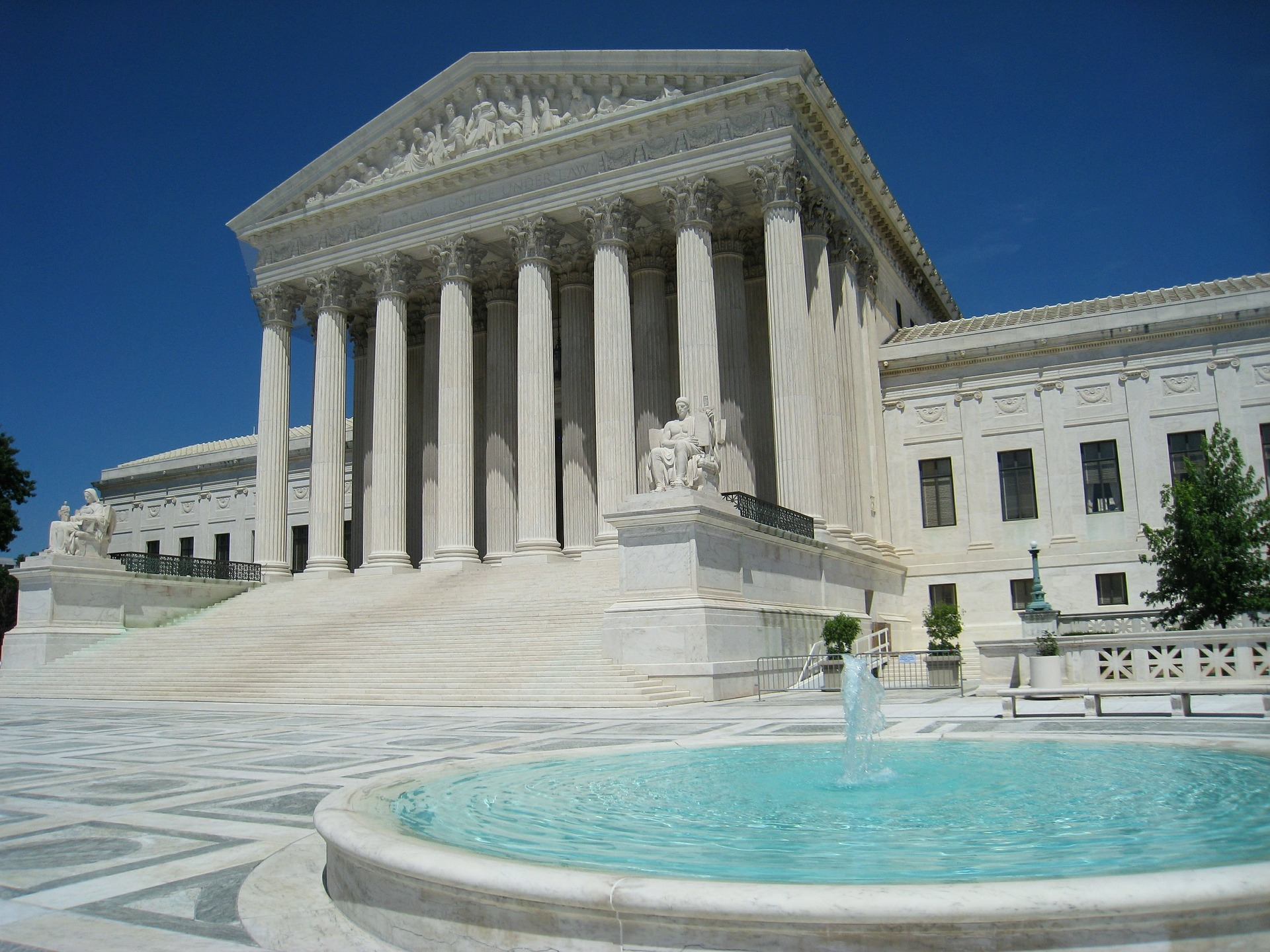 Photo of the US Supreme Court building in Washington, DC