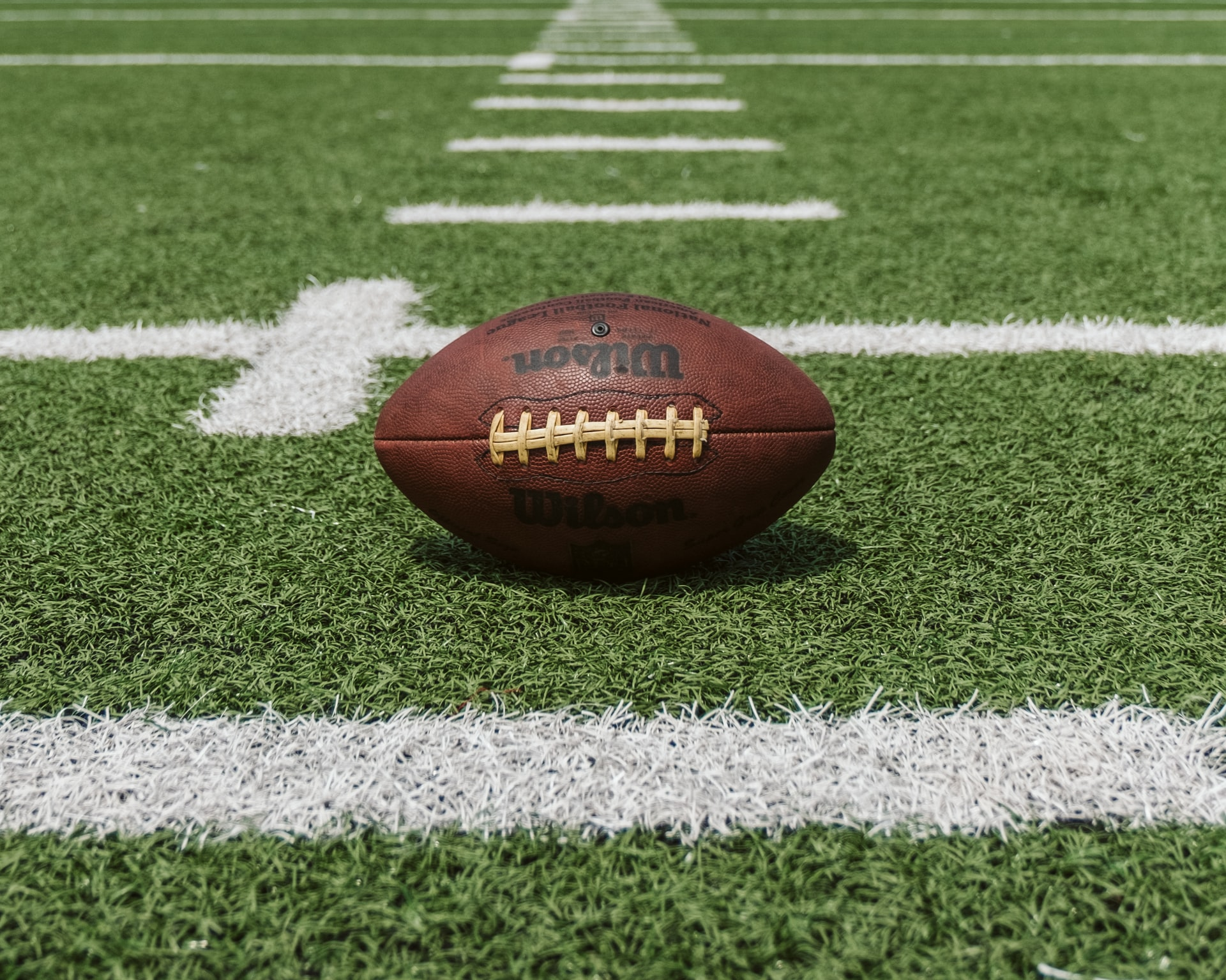 Photo of an American football