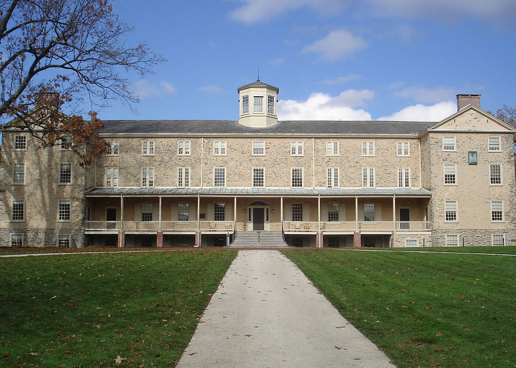 Founders Hall, the centerpiece of the Haverford College campus