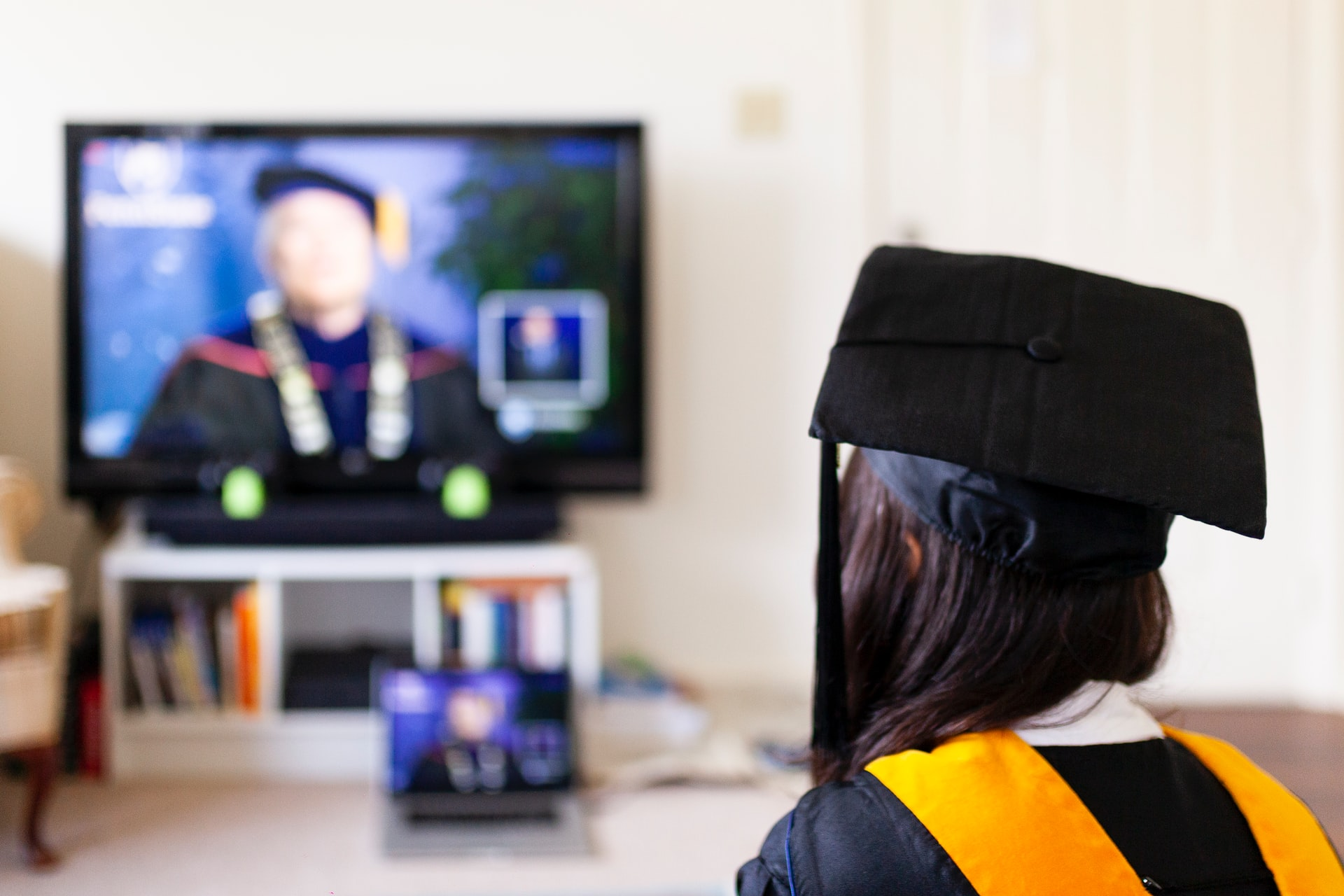 Photo of a virtual graduation amid the COVID-19 pandemic