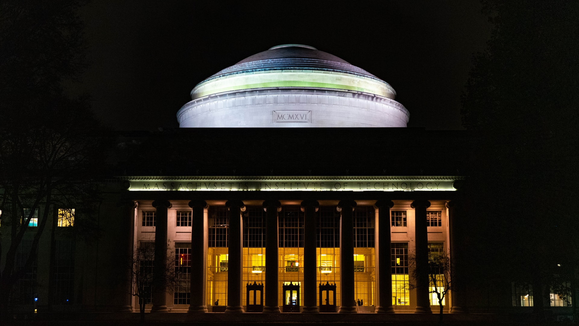 The Great Dome of MIT at night.