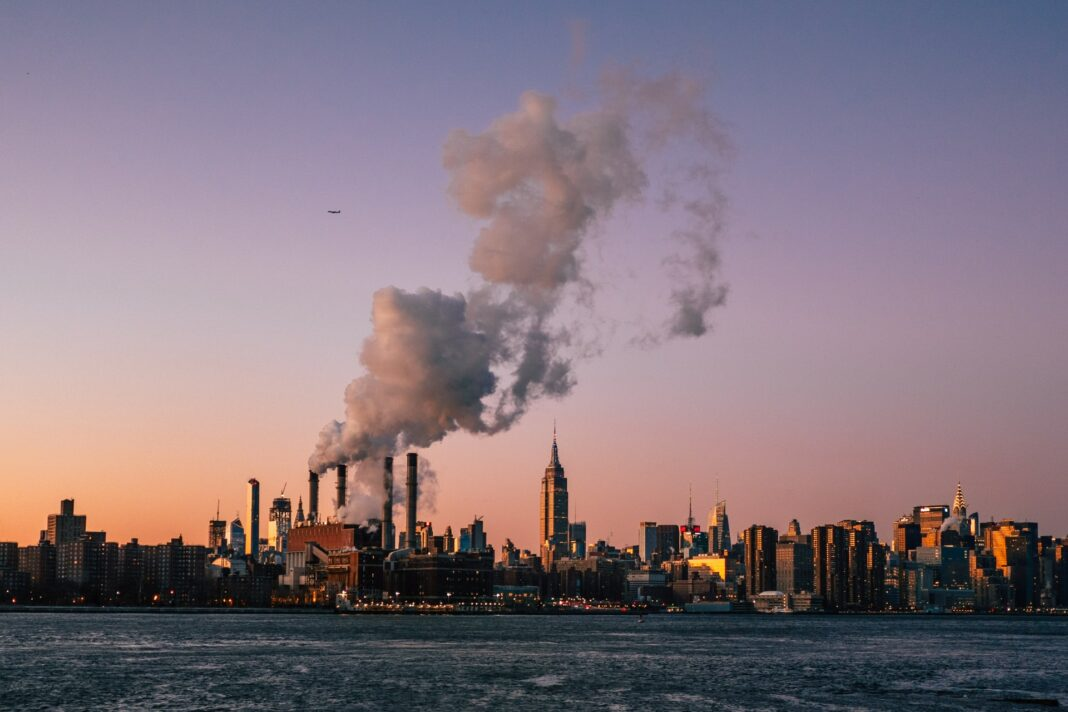 Photo of smoke pollution over New York City