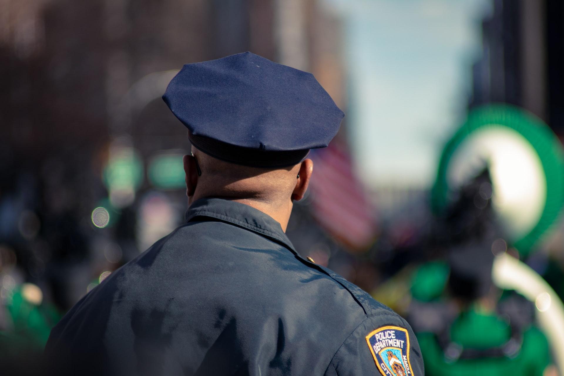 Photo of a Black police offifer
