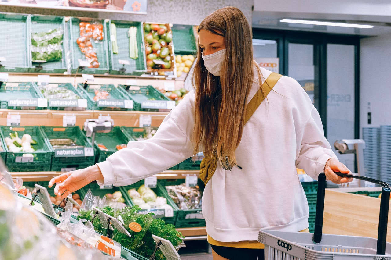 Photo of a student doing healthy groceries
