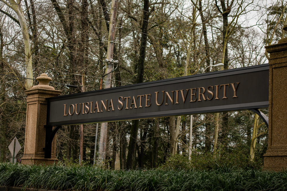 Louisiana State University LSU campus welcome banner