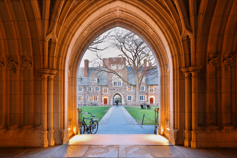 The Arched Hallway of Holder Hall on the campus of Princeton University