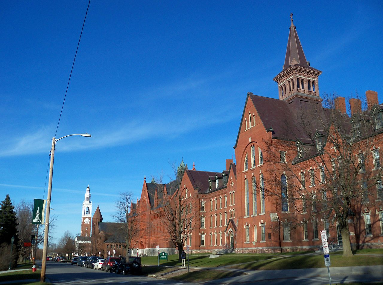 University of Vermont in Burlington, Vermont, US