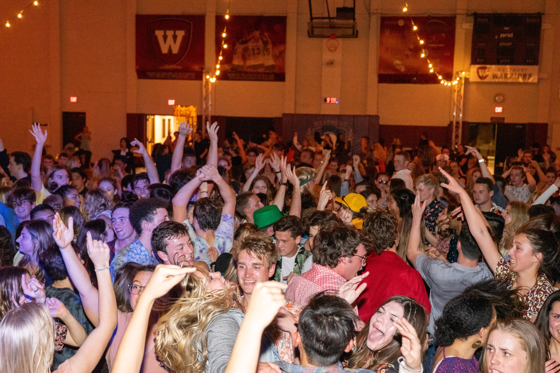 crowded college party
