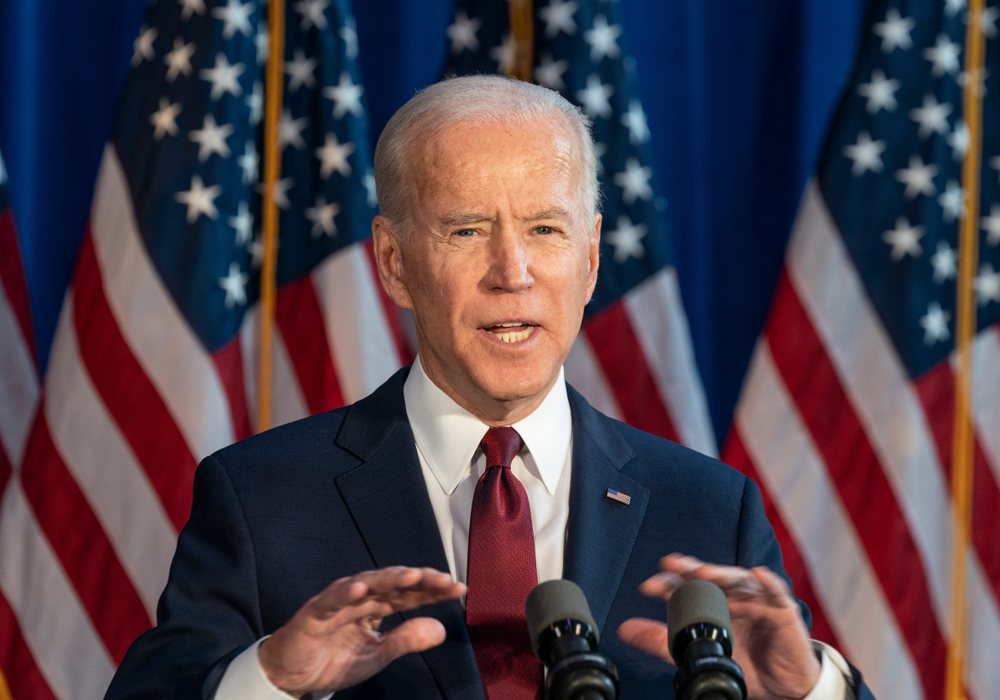 Joe Biden speaking in New York on January 7, 2020