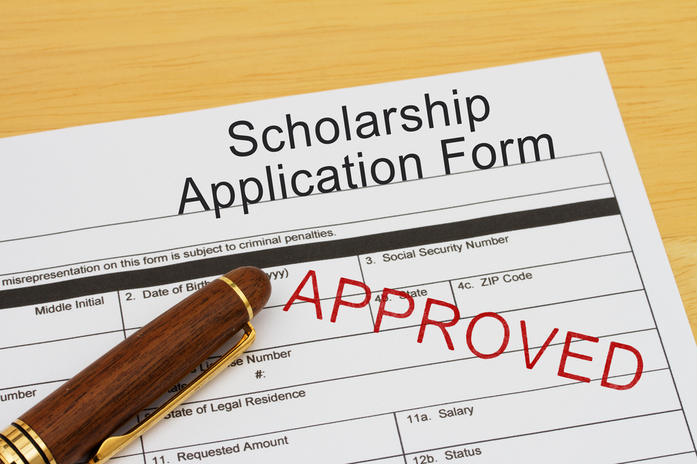 Application for a scholarship approved