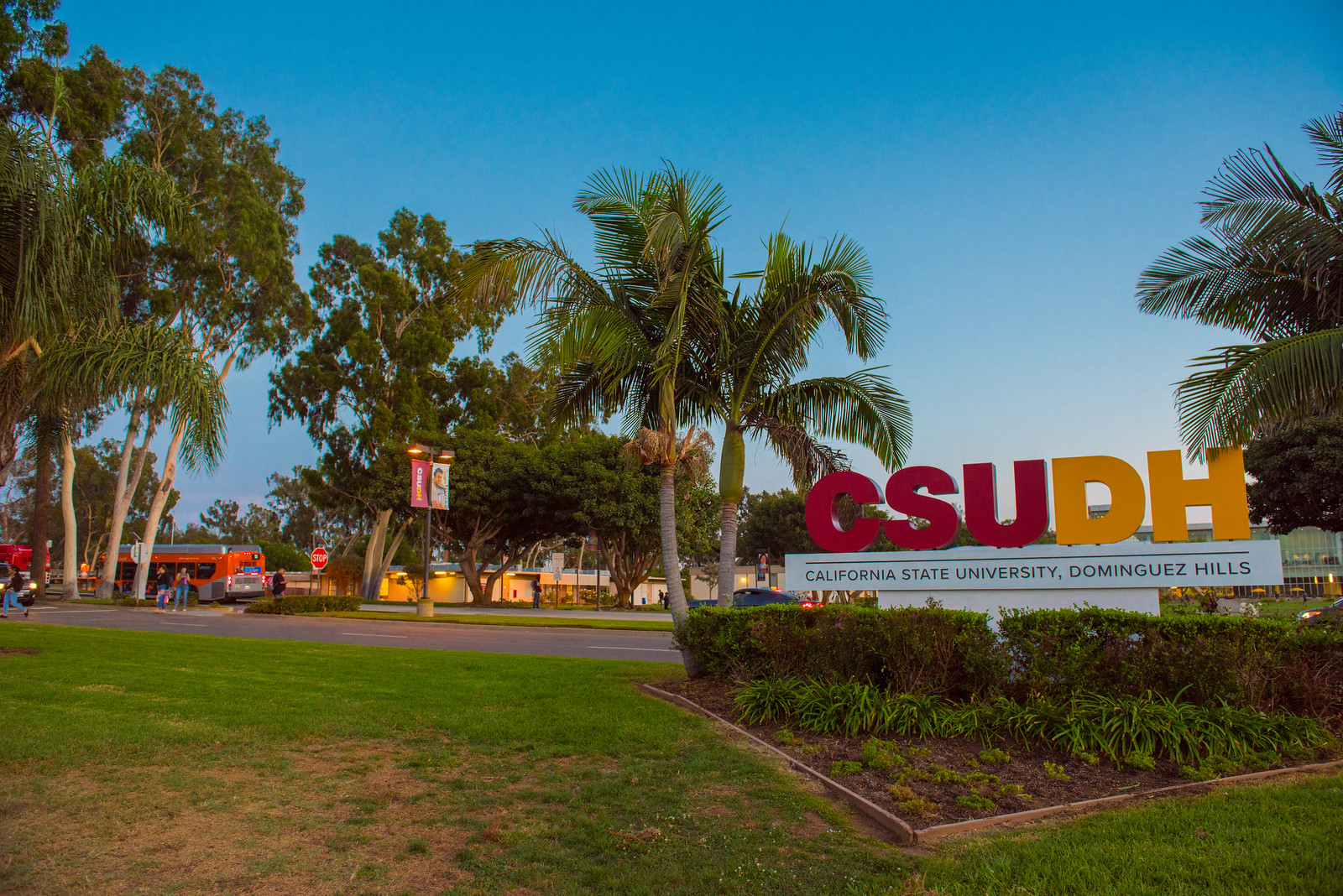 California State University, Dominguez Hills sign on campus