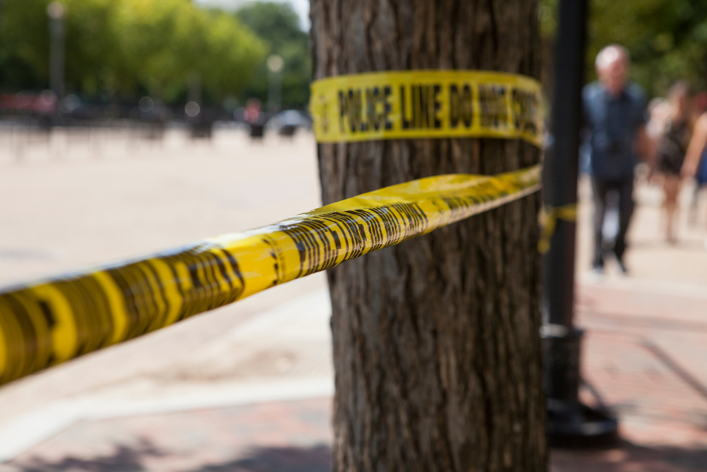 Police line tape, Washington DC,