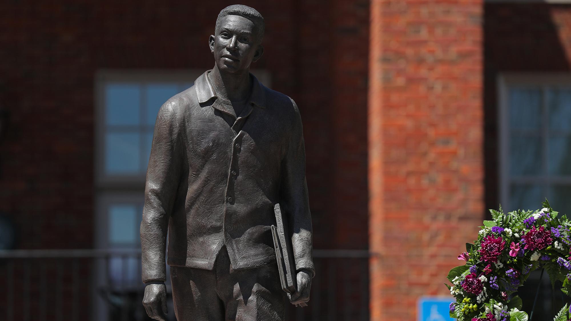 Statue of Joseph Vaughn at Furman University.