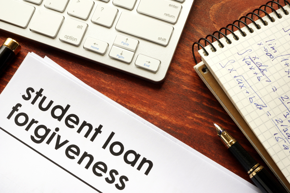 "A document titled ""Student loan forgiveness"""