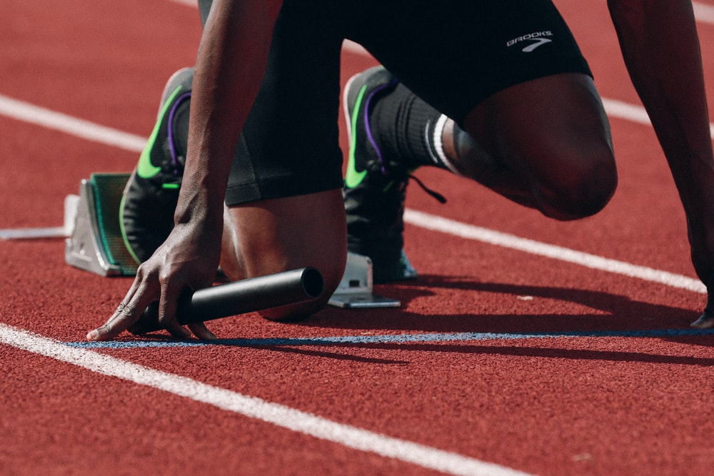black college athlete runner