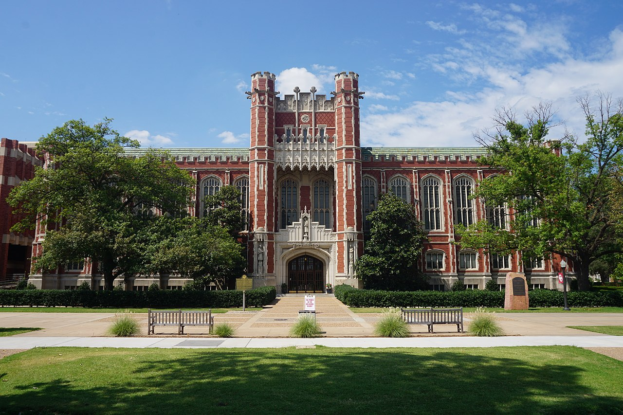 Bizzell Memorial Library on the campus of the University of Oklahoma in Norman, Oklahoma
