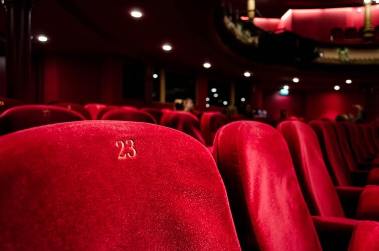 Row of seats in a theater