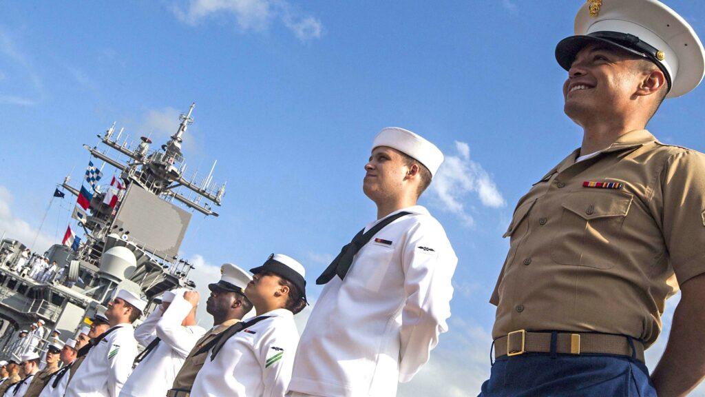 US Marines and US Navy Sailors