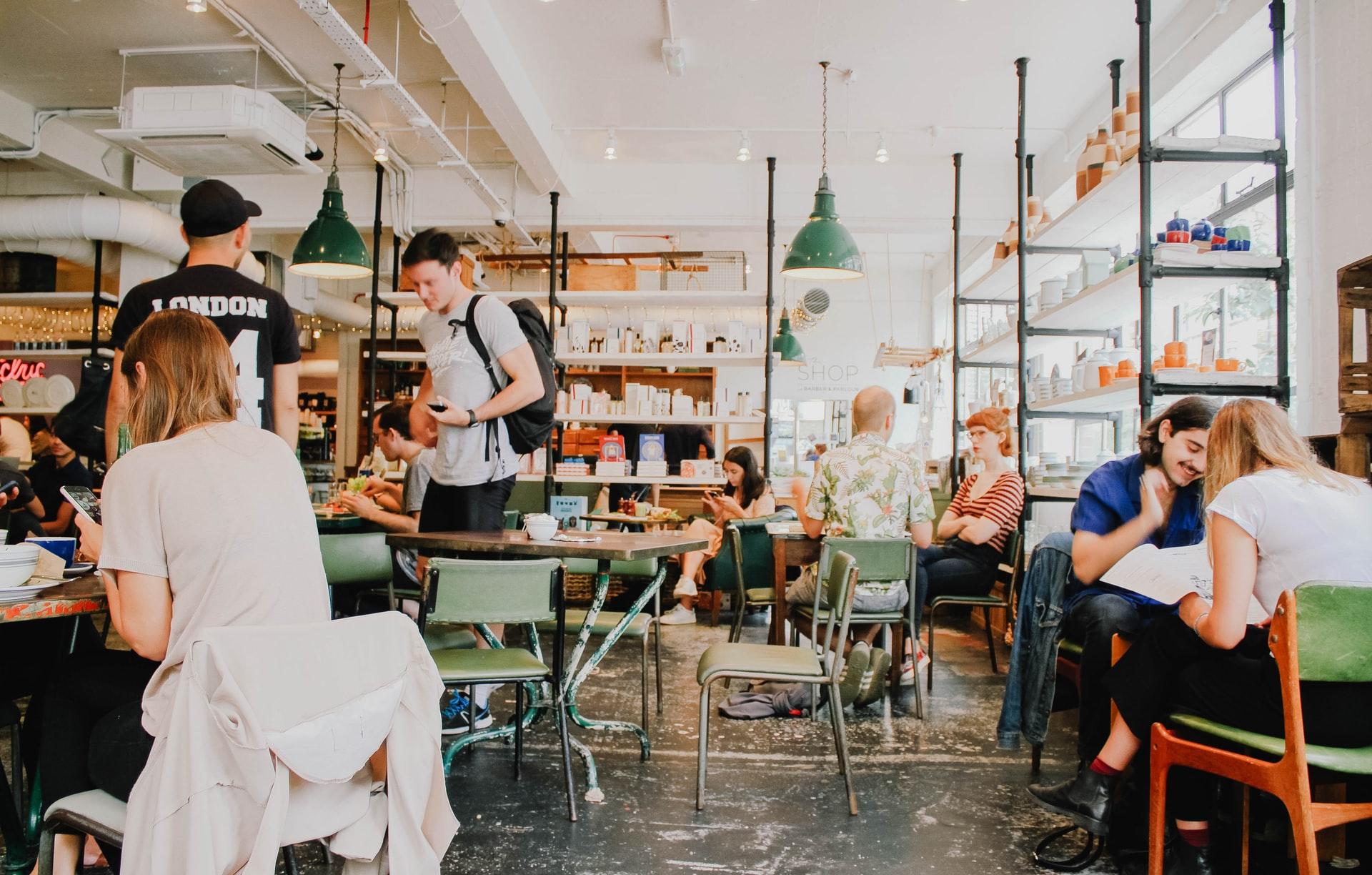 people inside a cafe
